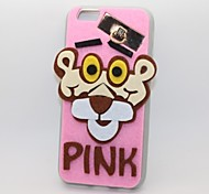 The Pink Panther PC With A Fluffy Back Case For Iphone 6plus/6s Plus(Assorted Color)