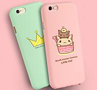 ifashion® candy Farbe pink green cup schöne Katze und goldene Krone Kieselgel-weicher Kasten für iPhone 6 / 6S