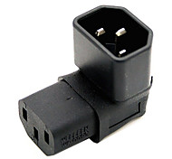 CY® IEC 320 Male C14 to Turnup Female C13 Power Extension Adapter