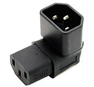 cy® IEC 320 c14 macho para fêmea adaptador turnup c13 de extensão de energia