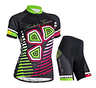 NUCKILY Bike/Cycling Jersey + Shorts / Clothing Sets/Suits Women's Short SleeveWaterproof / Breathable / Ultraviolet Resistant / Moisture