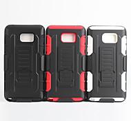 2 em 1 caso design de pele de plástico rígido + capa de silicone macio exterior para samsung note2 / Nota3 / Nota4 / Nota 5 (cores