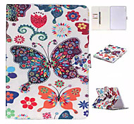 Butterfly Coloured Drawing or Pattern and TPU Textile Cloth Card Slot Stents The Cladding For Apple iPad Mini 4