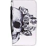 coco Fun® Skelett Muster PU-Lederetui mit V8-USB-Kabel Folie und Stift für Samsung Galaxy S6 / S6 Rand / S6 Rand Plus