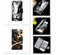 Tiger Eye Lou Residual Pattern PU Leather Full Body Case for iPhone 4/4S