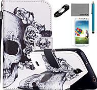 Para Soporte de Coche / Cartera / con Soporte / Flip / Diseños Funda Cuerpo Entero Funda Calavera Dura Cuero Sintético SamsungS5 Mini /
