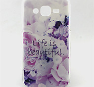 Life is Beautiful Pattern TPU Soft Case for Sumsung Galaxy J5
