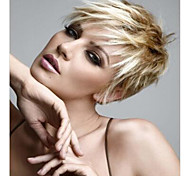 New Product  Blonde Short Syntheic  Wave Wig Extensions Top Quality