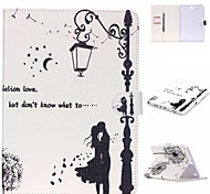Couples dandelion Pattern PU Leather Protective Sleeve For Samsung Galaxy Tab E 9.6 T560