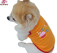 Cat / Dog Costume / Shirt / T-Shirt Purple / Orange Summer Letter & Number Wedding / Cosplay / Birthday / Holiday / Fashion
