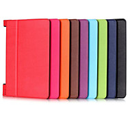 8 Inch Triple Folding Pattern High Quality PU Leather for Lenovo YOGA TAB 3 850F(Assorted Colors)