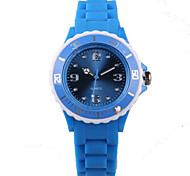 Fashion Blue Silicone Ladies Watch