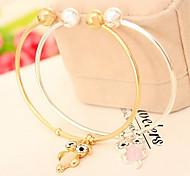 Fashion Jewelry Popular Opal Owl Bracelet