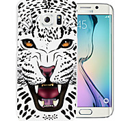 Black And White Leopard Pattern PC Back Cover Case for Samsung Galaxy S6/S6 Edge