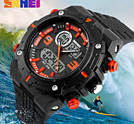 SKMEI® Fashion Double Movement Analog-Digital Rubber Band Sports Watch