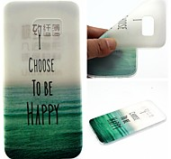 The Sea Words Phrase Pattern 0.6mm Ultra-Thin Soft Case for Samsung Galaxy S7