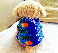 Dog Shirt / T-Shirt / Shirt Blue Dog Clothes Summer Fashion