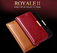 KALAIDENG Royale II Series Imported South Africa Cow Leather Protection Case for Galaxy S7 Edge(Assorted Colors)