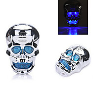 7-mode Skull Waterproof Bicycle Rear/Tail Light Cycling Warning Light