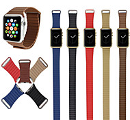Genuine Leather Loop For Apple Watch Quilted Venezia Leather with Adjustable Magnetic Closure Loop For Apple Watch Band