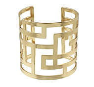 Gold Plated Maze Shaped Metal Cuff Bracelet Blanks