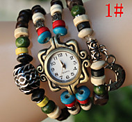 The New Fashion Women's Prayer Beads Hand-Woven Bracelet Watch Cool Watches Unique Watches