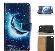 cuero del teléfono celular patrón cielo estrellado para el iphone 6 / 6s