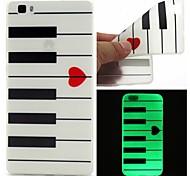 o coletor ideal TPU caso de piano luminosa padrão sofe para Huawei p8 Lite
