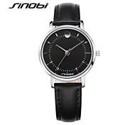 SINOBI® Women's Fashion Quartz Wrist Watch Black Leather Silver Nail Waterproof Female Brand Ladies Wristwatches Bracelet Cool Watches Unique Watches
