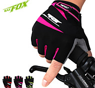 BATFOX Outdoor Sports Riding Shockproof Silicone Mountain Bike Short Finger Gloves For Men And Women Equipped With F-533