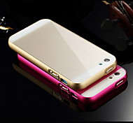 Luxury Super Thin  Metal Frame Adds Acrylic Smooth Surface Full Body Cover Phone Shell for IPhone 5c