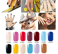 Fashion Nail Art Stickers Solid Color Beauty Full Cover 3D Manicure DIY