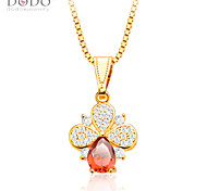 Ruby Jewelry Pendant Fashion Jewelry For Women Trendy 18K Gold/Platinum Plated Red Cubic Zirconia Pendant P30129
