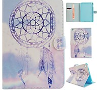 Purple Wind Chimes Coloured Drawing or Pattern PU Leather Folio Case Tablet Holster for iPad Mini 4