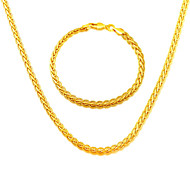 South Korea's snake chain men and women Jewelry 18K Gold Plated Necklace Bracelet Jewelry NB60042
