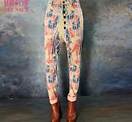ELFSACK Women's Mid Rise Skinny Orange Casual Pants - 1438050
