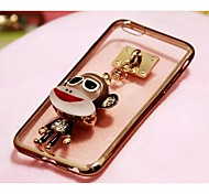Charm Pendants With Plating TPU Back Case For Iphone6,6S(13#~16#)(Assorted Color)