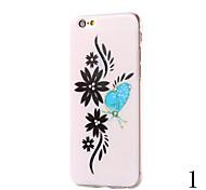 motif de fleur couvercle série Diamante de TPU pour iPhone 6 Plus iphone 6s, plus