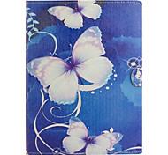 Farfalla sogno illustrazione colorata o modello in pelle PU folio caso tablet custodia per ipad 4/3/2