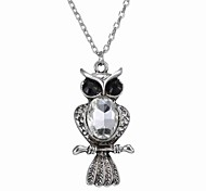New Fashion Crystal Owl Necklace