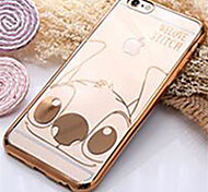 iPhone 7 Plus Ultra-Thin Fashion Smooth Electroplating TPU Soft Case with Stitch for iPhone 6 Plus/6S Plus