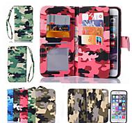 Leder Telefon Brieftasche Tasche Fall Flip-Cover + rückseitige Abdeckung 2 in 1 abnehmbarer Fall für iphone 6 plus / 6s Plus