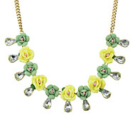 Flower Shape Statement Necklace
