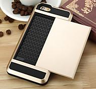 luxo bolso de cartão de crédito caso de telefone bolsa carteira híbrida fino para iPhone 6 / 6s mais