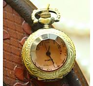 poche unisexe de mode antique montres vintage rétro horloge à quartz de bronze mini-cadeaux de petites montres de la chaîne collier