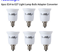 YouOKLight® 6PCS E14 to E27 Light Lamp Bulb Adapter Converter - Silver + White