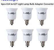 youoklight® 6pcs E14 à E27 adaptateur ampoule de lumière convertisseur - argent + blanc