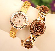 Colorful Roses On New Leather Women's Watches Bracelet Wrist Watch