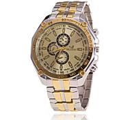 Xu™ Men's Wrist watch Quartz Leather Band Black White Gold