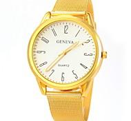 Couple's Casual Design Gold Alloy Band Quartz Wristwatch Cool Watches Unique Watches